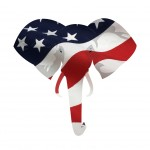 Map displacement of American flag on the Republican elephant symbol.
