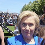 hillary greets supporters