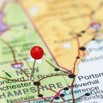 Concord New Hampshire Pinned on Map