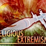Abstract background digital collage concept illustration religious extremism terrorism
