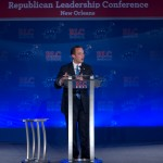 Republican National Committee Chairman Reince Priebus addresses the Republican Leadership Conference