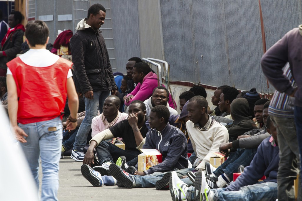 220 Migrants Rescued Off Libyan Coast Arrive In Sicily.