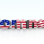 Save Download Preview romney sign with american flag 3d illustration